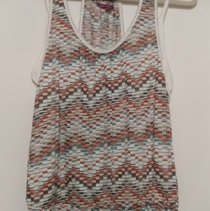 Multi colored knit tank top